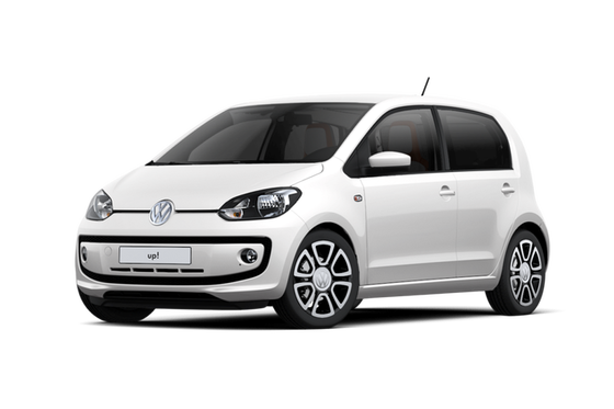 vw volkswagen up weiß kompakt